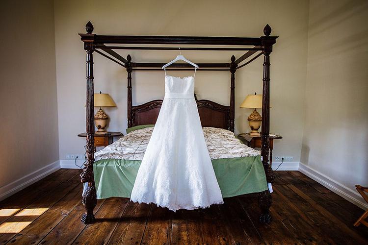 Jagdschloss Kotelow Hochzeitskleid